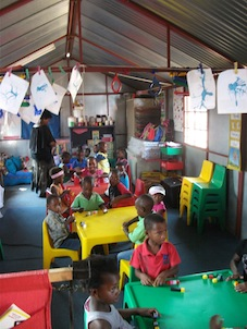 Grade R stimulating indoor and outdoor playing environments